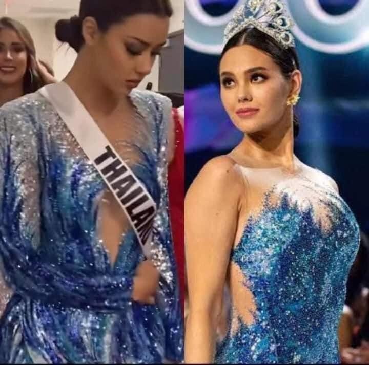 Hoa hậu Thái Lan bị khịa bắt chước lava catwalk của Catriona - Miss Universe 2018-5