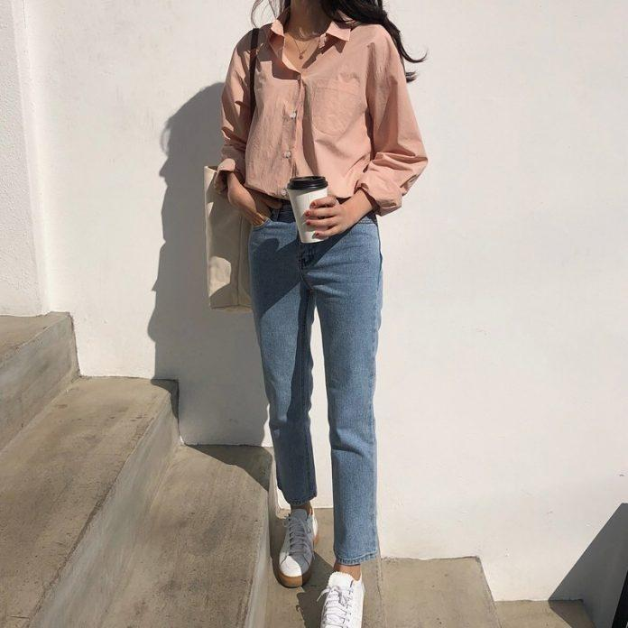 Diện áo sơ mi đơn sắc xinh như gái Hàn, vừa dễ mix đồ lại trẻ trung!-1