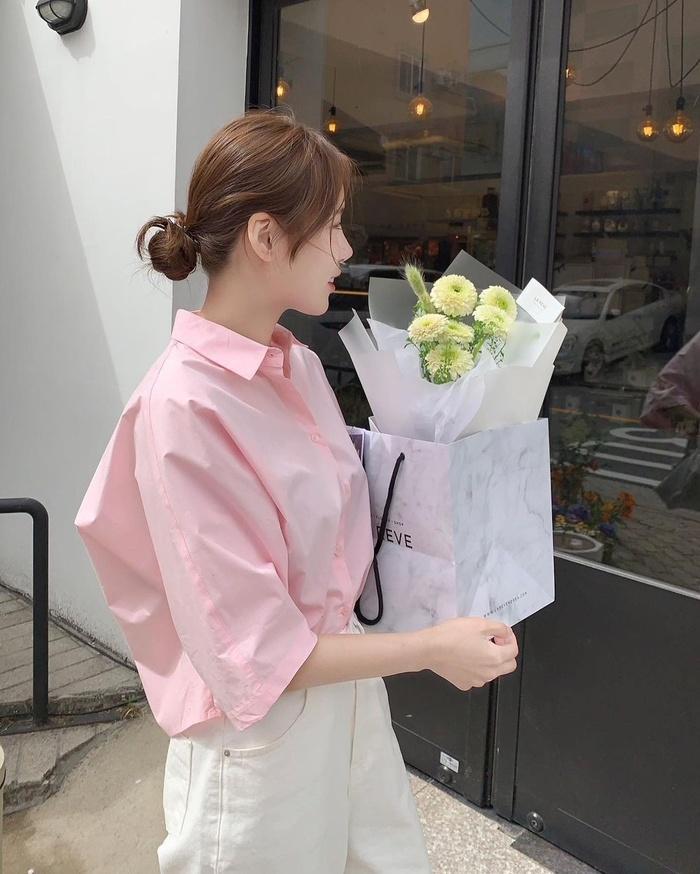 Diện áo sơ mi đơn sắc xinh như gái Hàn, vừa dễ mix đồ lại trẻ trung!-3