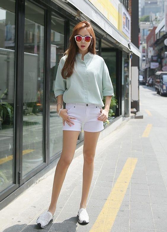 Diện áo sơ mi đơn sắc xinh như gái Hàn, vừa dễ mix đồ lại trẻ trung!-7