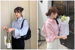 Diện áo sơ mi đơn sắc xinh như gái Hàn, vừa dễ mix đồ lại trẻ trung!