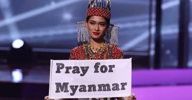 Hoa hậu Myanmar bị truy nã sau khi cầu cứu tại chung kết Miss Universe 2020?-2