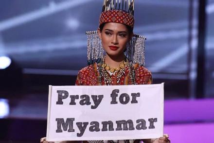 Hoa hậu Myanmar bị truy nã sau khi 'cầu cứu' tại chung kết Miss Universe 2020