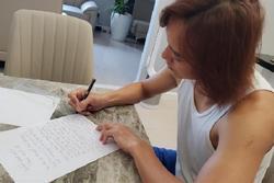 Chồng Việt Hương bị móc mỉa chỉ vì viết cam kết tặng quà vợ