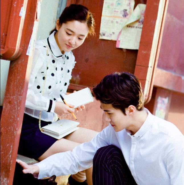 Sehun (EXO) và Ngô Thiến lộ cảnh phim hôn nhau đắm đuối cá chuối-4