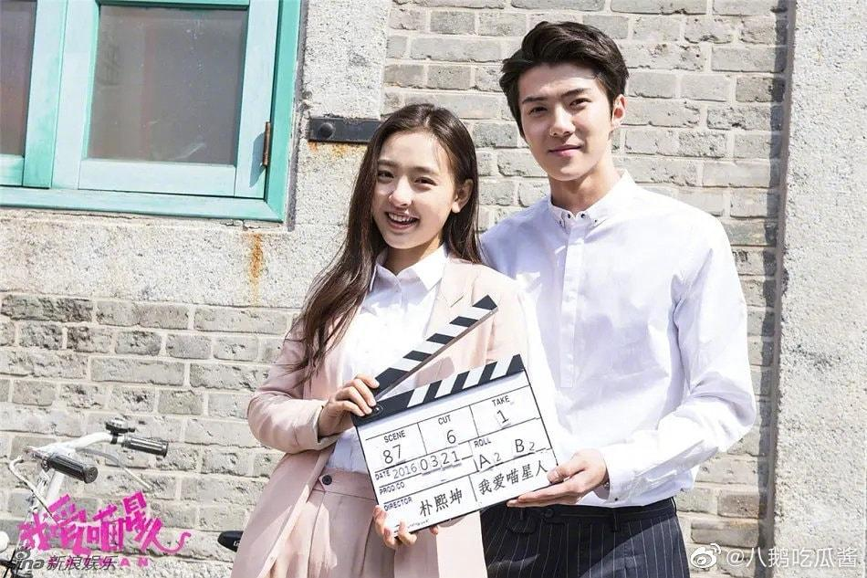 Sehun (EXO) và Ngô Thiến lộ cảnh phim hôn nhau đắm đuối cá chuối-7