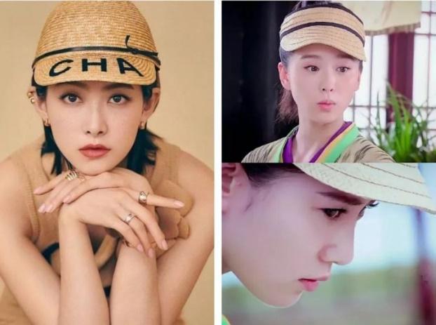 Mũ cổ trang của mỹ nữ Cbiz: Dương Mịch đội tổ chim, Lưu Diệc Phi đội mâm ngũ quả-1