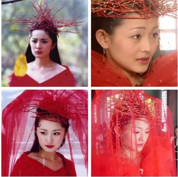 Mũ cổ trang của mỹ nữ Cbiz: Dương Mịch đội tổ chim, Lưu Diệc Phi đội mâm ngũ quả-3