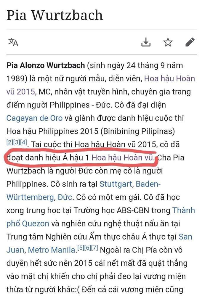 Ngứa mắt Hoa hậu Hoàn vũ Pia, dân mạng Việt ra tay truất ngôi-1
