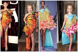Hai mẹ con tái hiện váy hiệu từ vật liệu gần gũi