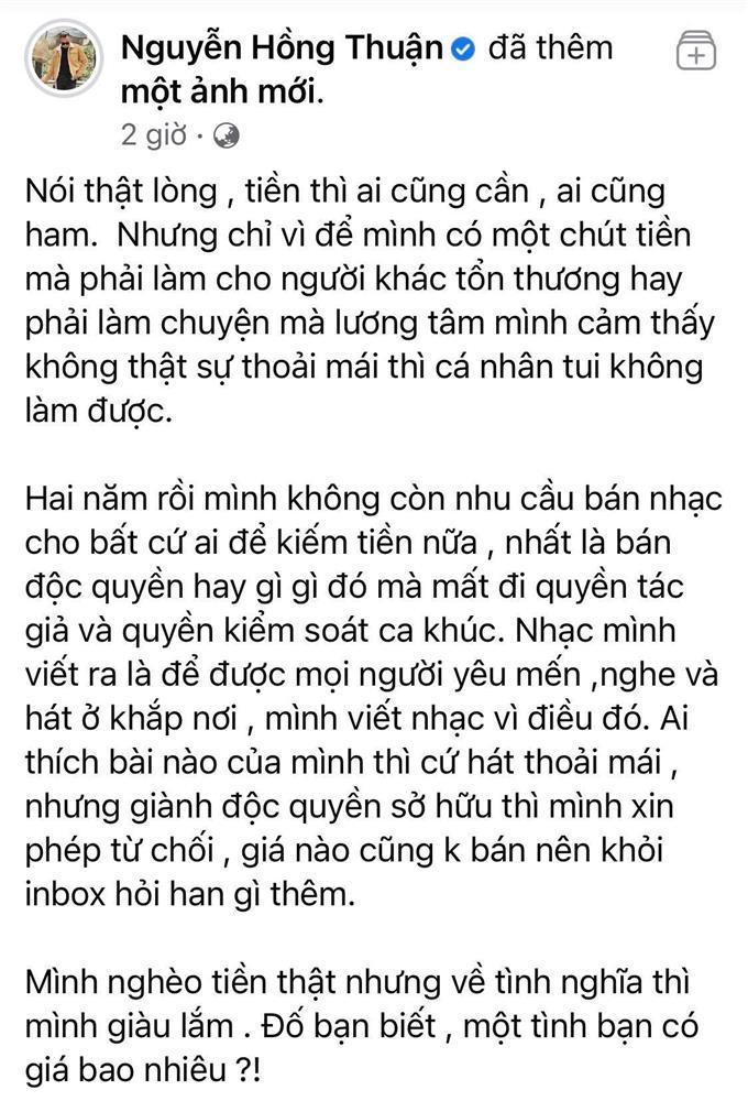Nguyễn Hồng Thuận bóng gió: Chỉ cần tiền, sẵn sàng bán hết là sai quá sai-2