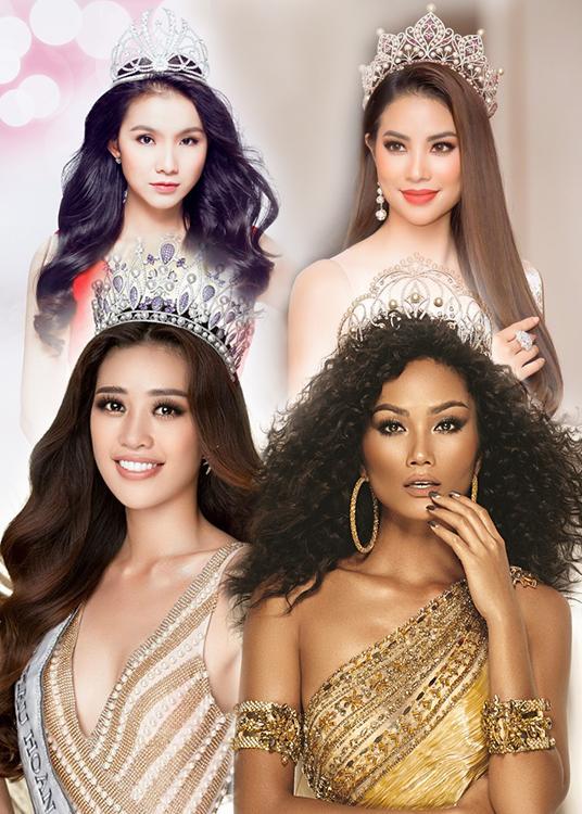 4 Hoa hậu Hoàn vũ Việt Nam thi Miss Universe: Phạm Hương đội sổ-1