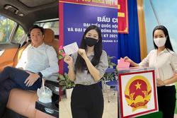 Cường Đô La và dàn sao Việt hào hứng đi bầu cử