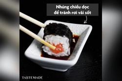 Cách ăn sushi chuyên nghiệp như người Nhật