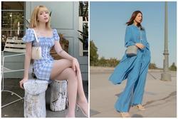 Học sao Việt cách mặc trang phục màu xanh da trời đẹp như nàng thơ!