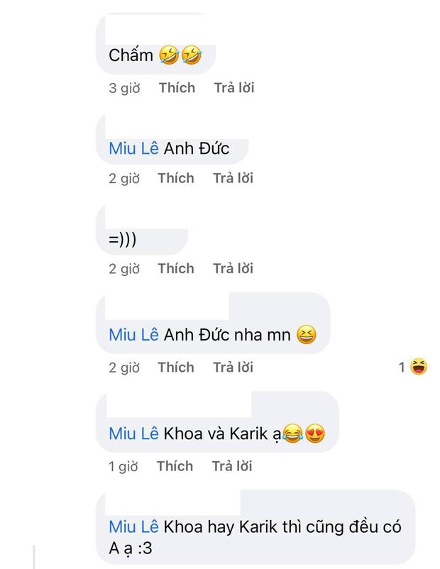 Miu Lê hé lộ tên người tình có chữ A, netizen bóc luôn Karik chính là Khoa-4