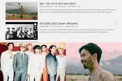 MV 'Butter' của BTS đạt nhiều kỷ lục YouTuBe nhưng vẫn xếp sau Đen Vâu trên top trending