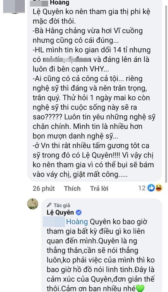 Nghi Lệ Quyên bênh Hoài Linh, dân mạng lập tức sờ gáy-3
