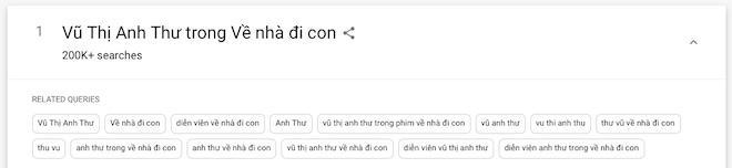 Dân mạng tìm ráo riết, Vũ Thị Anh Thư Về Nhà Đi Con lên top 1 Google-1