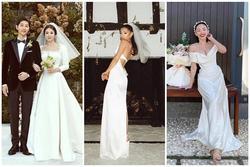 Xu hướng đầm cưới tối giản mà sang như Ariana Grande, Song Hye Kyo, Tóc Tiên