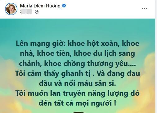 Diễm Hương gay gắt khi bị chê hoa hậu hết thời bán hàng online-2