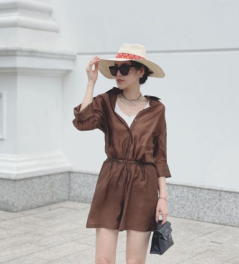 Street style đầu tuần: Sao Việt mê mệt sắc hồng cánh sen trendy-10