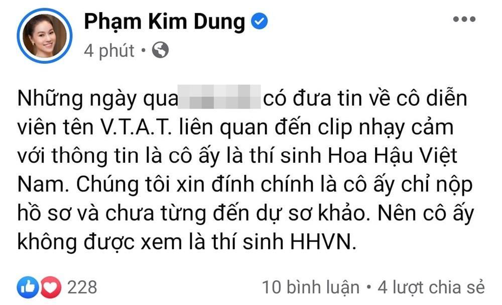 BTC Hoa hậu Việt Nam lên tiếng về hotgirl Về Nhà Đi Con lộ clip nóng-3