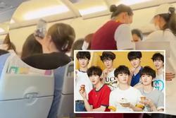 Người hâm mộ nhóm nhạc Trung Quốc gây náo loạn trên máy bay