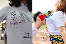 Phản cảm nữ sinh Việt khoe bạn học ký chữ kín đặc vòng 1