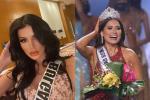 Đỗ Mỹ Linh chụp hình cùng tân Miss Universe, chiều cao cột đèn - máy nước-8