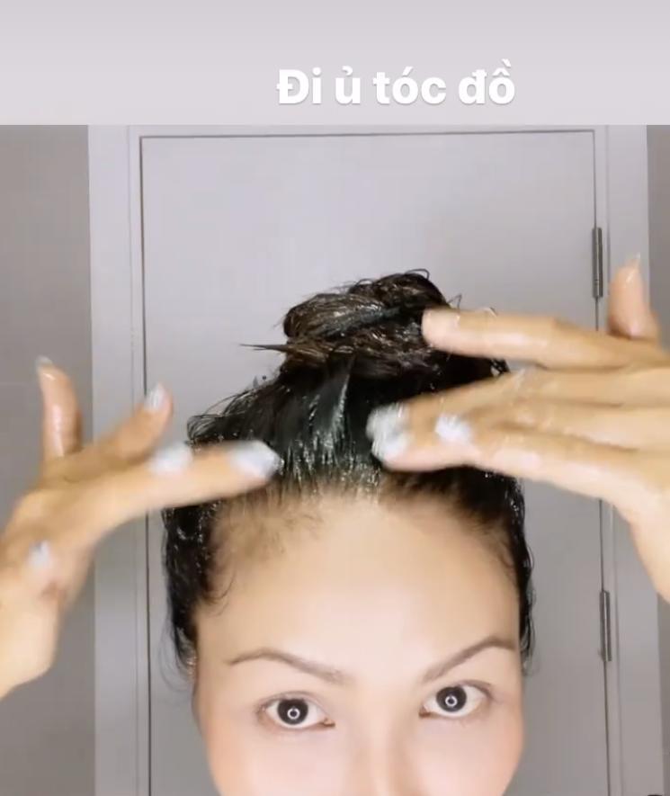 Giãn cách xã hội không thể ra salon, H'Hen Niê chia sẻ công thức ủ tóc suôn mượt tại gia-2