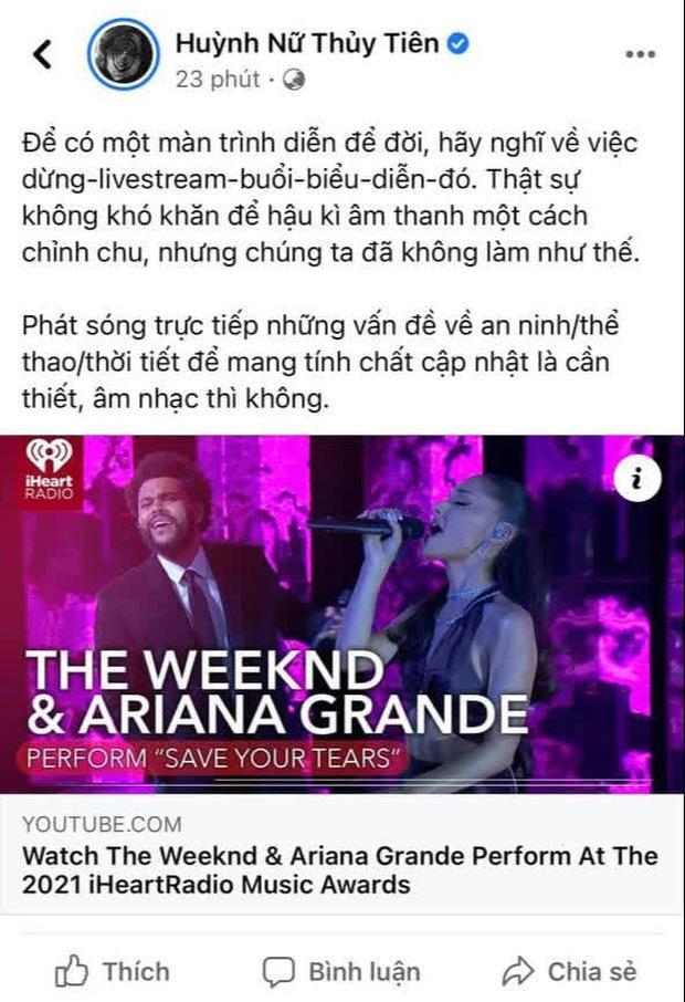 Tiên Tiên đưa Ariana Grande và The Weeknd vào phát ngôn shock nóc-2
