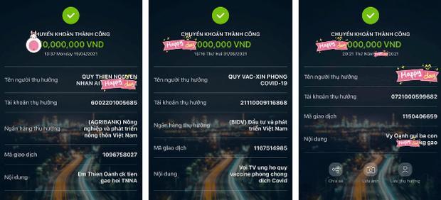 Thực hư Vy Oanh đăng ảnh sao kê từ thiện pha ke và chỉnh sửa nhiều lần-2