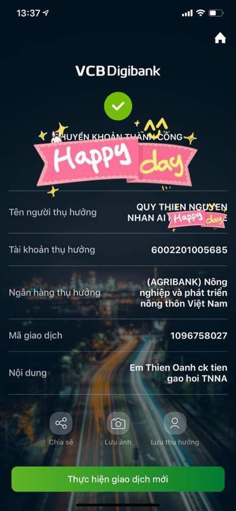 Thực hư Vy Oanh đăng ảnh sao kê từ thiện pha ke và chỉnh sửa nhiều lần-8
