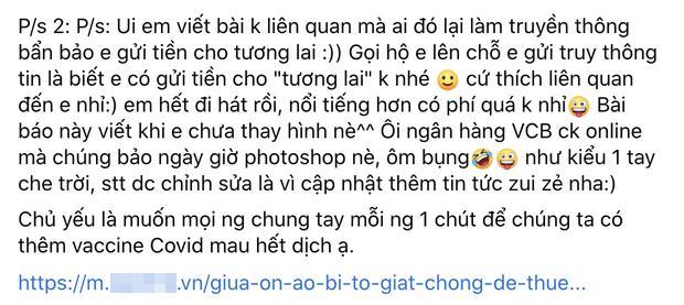 Thực hư Vy Oanh đăng ảnh sao kê từ thiện pha ke và chỉnh sửa nhiều lần-10