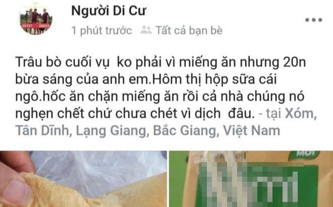 Thanh niên Bắc Giang bị cán bộ quản lý khu cách ly ăn chặn suất ăn?