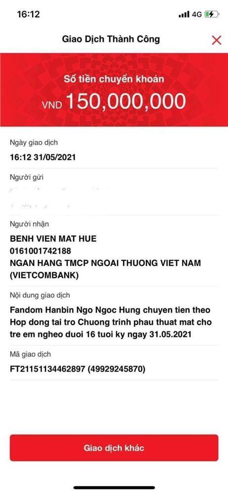 Hanbin sẽ phổng mũi tự hào khi fandom ủng hộ hơn 200 triệu cho việc thiện nguyện-4