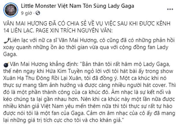Đừng hòng fan Lady Gaga chấp nhận lời xin lỗi muộn màng của Văn Mai Hương!-2