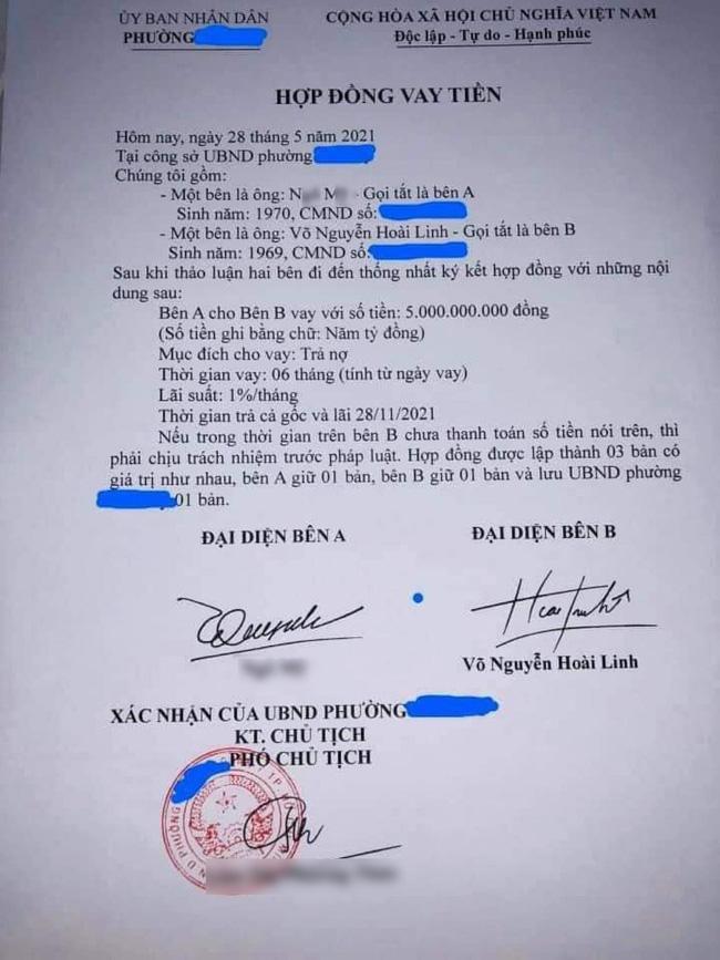 UBND phường Phú Mỹ nói gì về giấy vay nợ 5 tỷ của Hoài Linh?-2