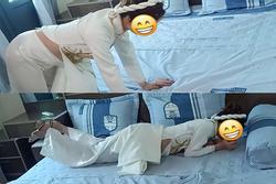 Tranh cãi cô dâu bụng bầu lớn phải bò lăn trên giường vì mang thai trước cưới