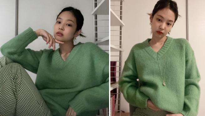 Jennie phối đồ thế nào với tông xanh lá?-5