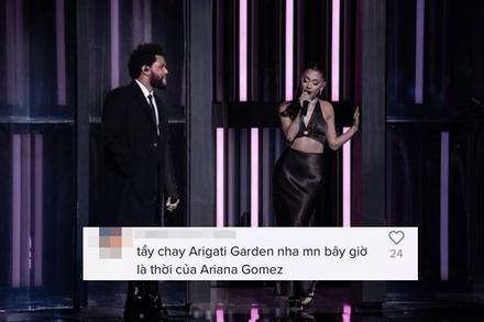 Netizen 'tẩy chay' Ariana Grande sau màn trình diễn đỉnh cao với The Weeknd