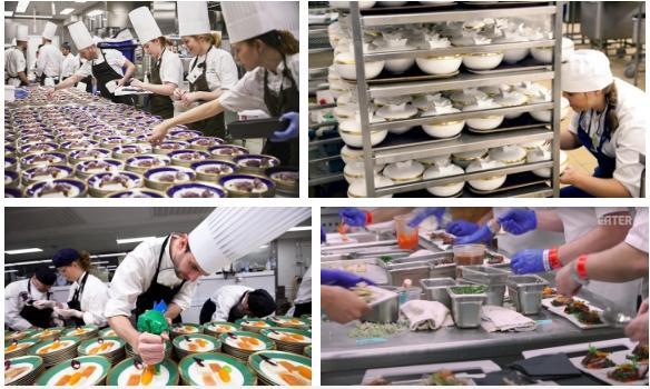 Làm thế nào để bếp trưởng chuẩn bị phần ăn cho những bữa tiệc sang trọng đón hàng nghìn khách?-2