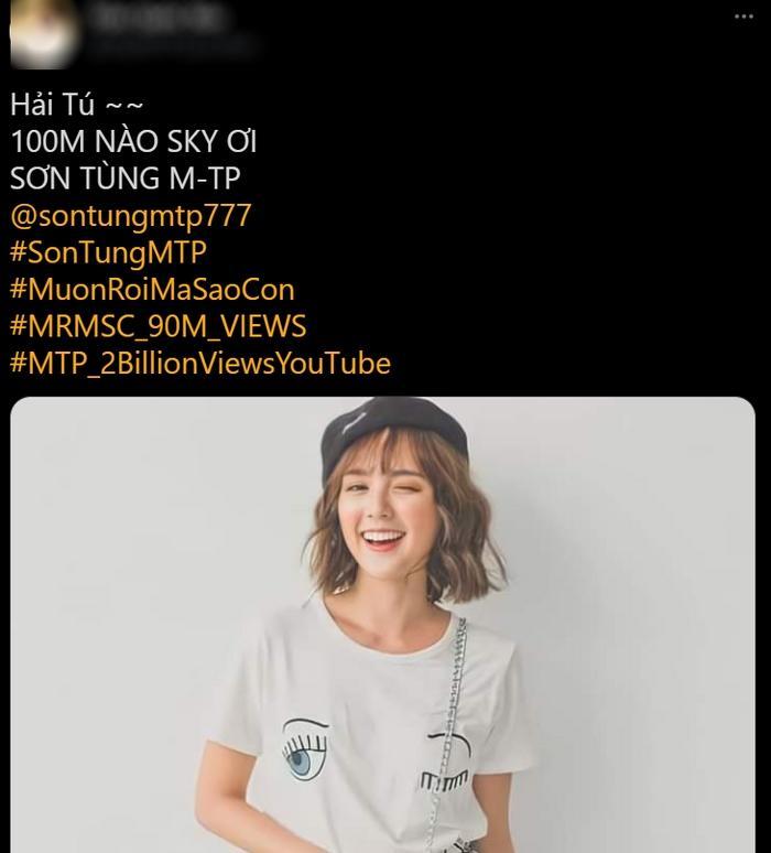 Kêu gọi cày view Sơn Tùng toàn dùng ảnh Hải Tú, fan chấp thuận tình mới của Sếp?-4