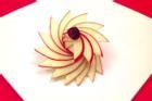Cách cắt tỉa táo trang trí cho món ăn đẹp mắt