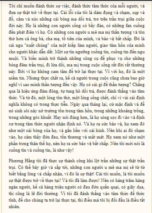 Bà Phương Hằng bất ngờ viết tâm thư muốn dừng cuộc chơi, khẳng định đã thấy đủ-3