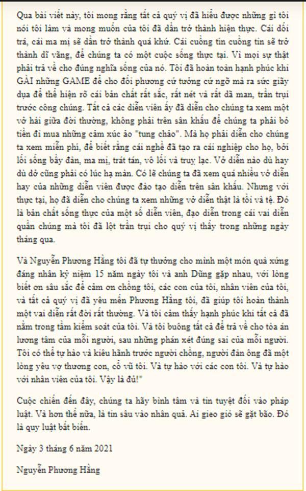 Bà Phương Hằng bất ngờ viết tâm thư muốn dừng cuộc chơi, khẳng định đã thấy đủ-6
