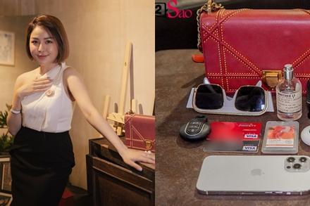 Lục túi hot girl Trâm Anh: Trong túi hiệu 100 triệu chỉ có đúng... 1 tờ 20k?