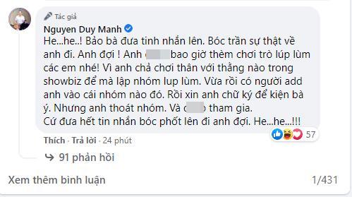 Bị bà Phương Hằng tuyên bố lột trần, Duy Mạnh: Làm đi anh đợi-4