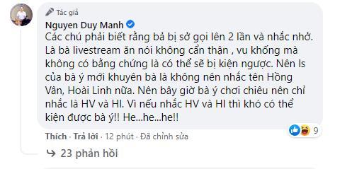 Bị bà Phương Hằng tuyên bố lột trần, Duy Mạnh: Làm đi anh đợi-5